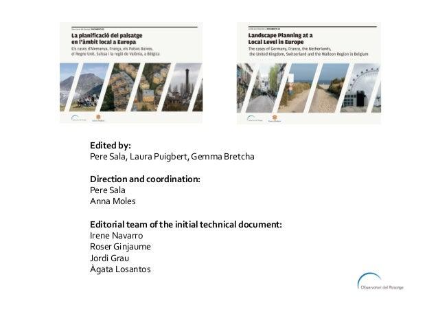 Editedby: PereSala,LauraPuigbert,GemmaBretcha  Directionandcoordination: PereSala AnnaMoles  Editorialte...