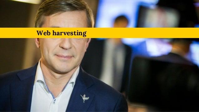 Web harvesting