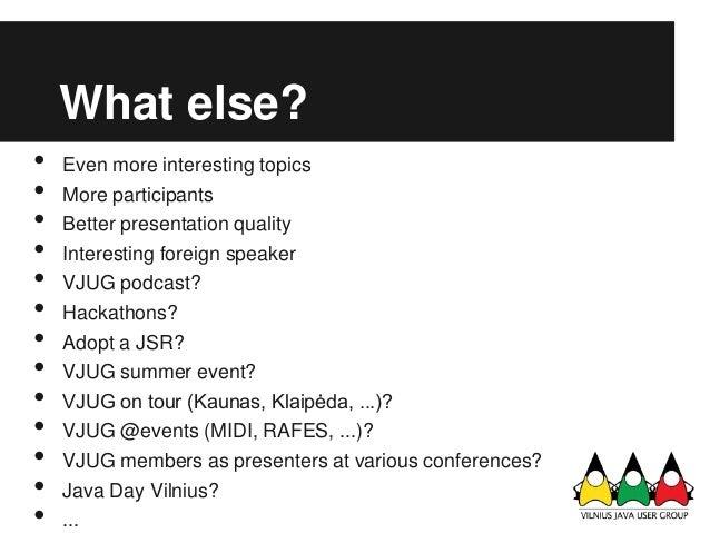 vilnius java user group meeting  14