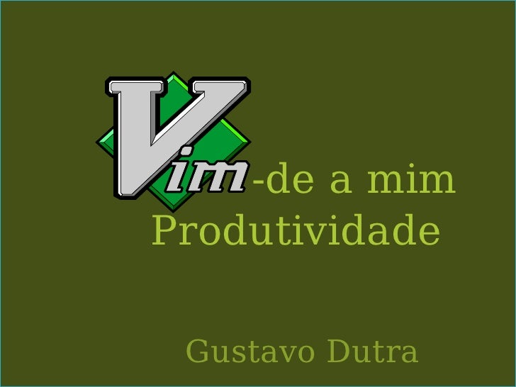 -de a mimProdutividade Gustavo Dutra