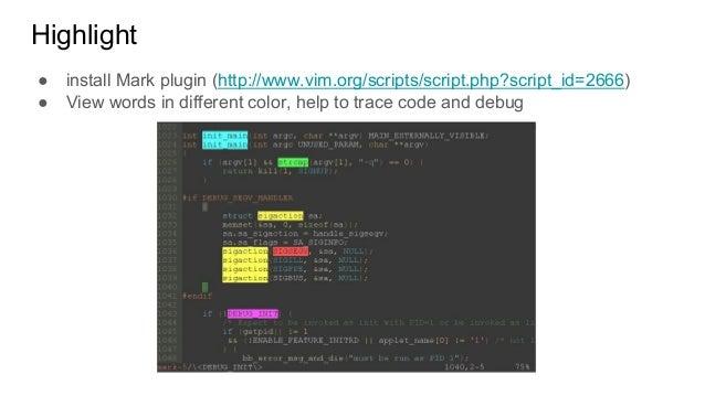 Coding with Vim