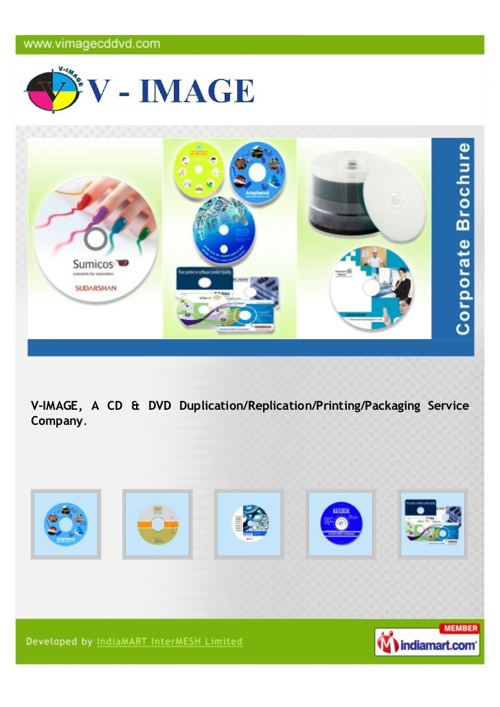 V-IMAGE, A CD & DVD Duplication/Replication/Printing/Packaging ServiceCompany.
