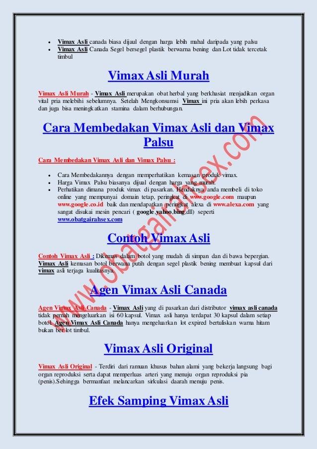 fakta mengenai vimax asli canada itu produk vimax bohong