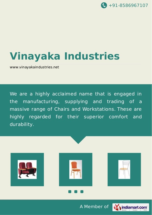 +91-8586967107  Vinayaka Industries www.vinayakaindustries.net  We are a highly acclaimed name that is engaged in the  man...