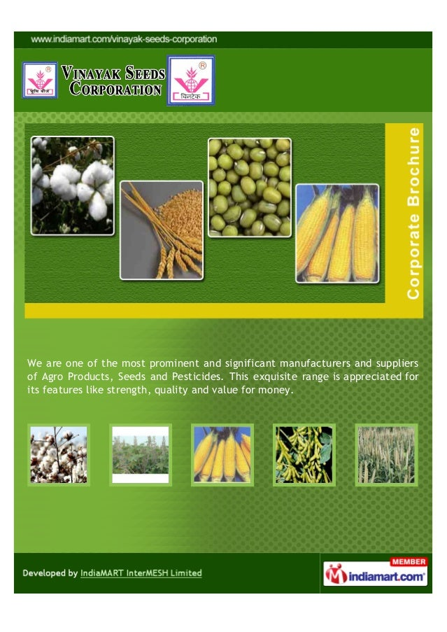 We are one of the most prominent and significant manufacturers and suppliersof Agro Products, Seeds and Pesticides. This e...