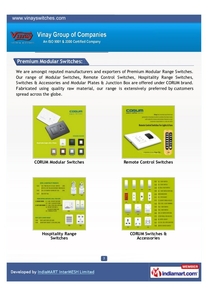 Vinay Group Of Companies, Mumbai, Electric Safety Switches
