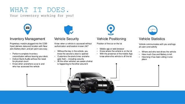 VINBeam - Automotive Inventory Management and Security Slide 2