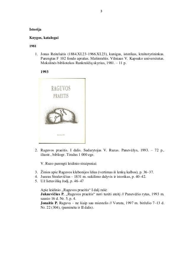 Vincas Ruzas bibliographical index 2019 Slide 3