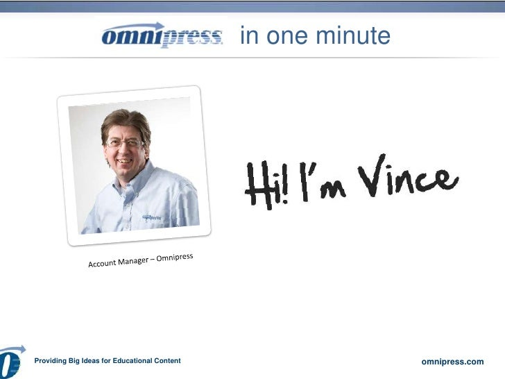 in one minute<br />Account Manager – Omnipress<br />