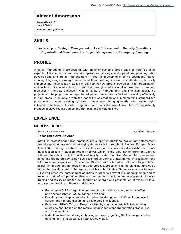 Vincent Amoresano Visual Cv Resume