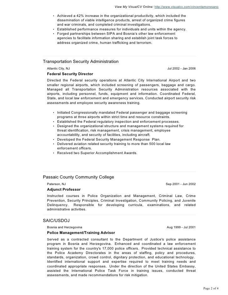 community outreach resume