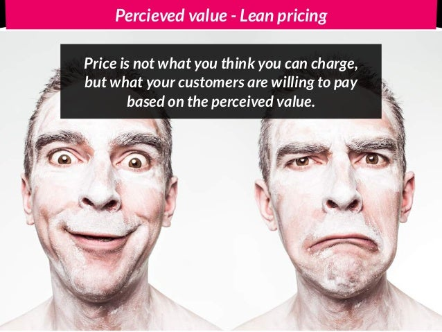 Percieved value - Lean Pricing Product lifecycle 5's & 9's Knowledge Reference point Freedom Loss aversion @Andreas Klinger