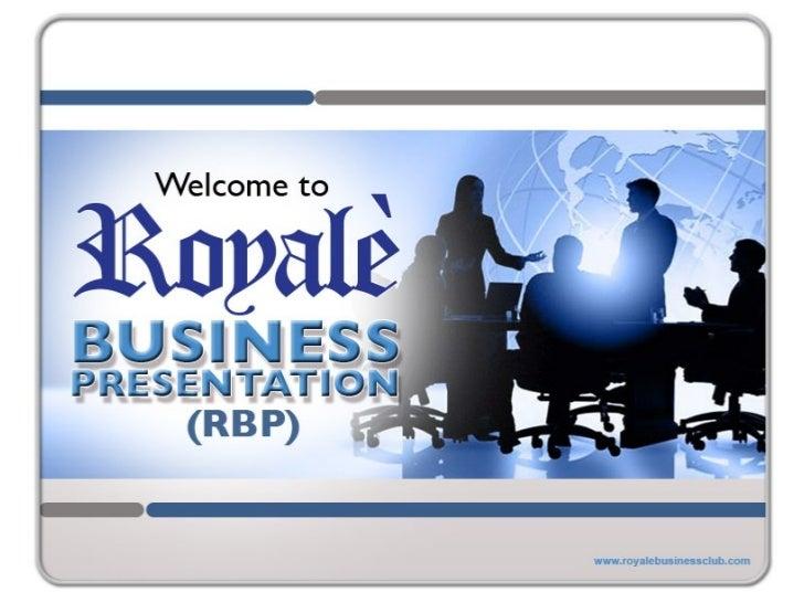 royale business presentation hyper plantar