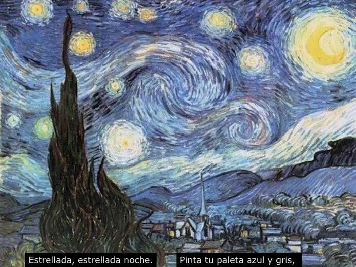 Estrellada, estrellada noche. Pinta tu paleta azul y gris,