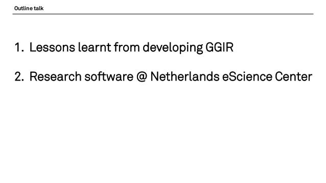Accelerometer data processing with GGIR - a success story in Research…