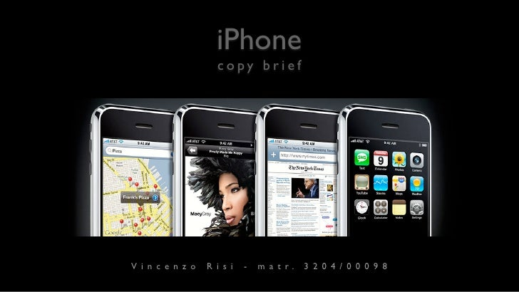 iPhone             copy brief     Vincenzo   Risi   -   m a t r.   3204/00098