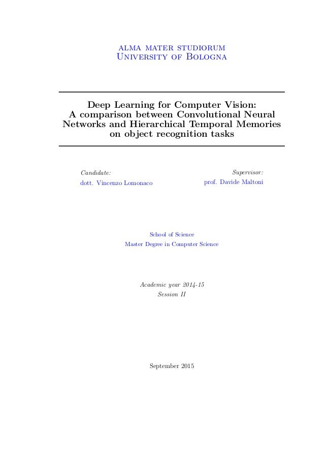 Master thesis deep learning