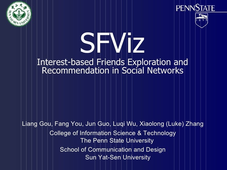 SFViz    Interest-based Friends Exploration and     Recommendation in Social NetworksLiang Gou, Fang You, Jun Guo, Luqi Wu...