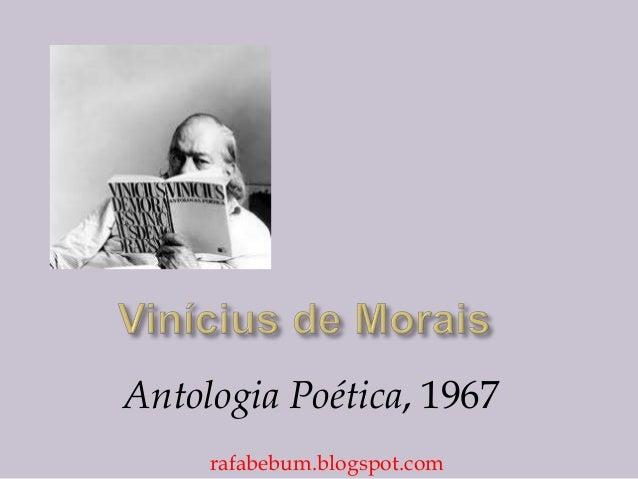 Antologia Poética, 1967 rafabebum.blogspot.com