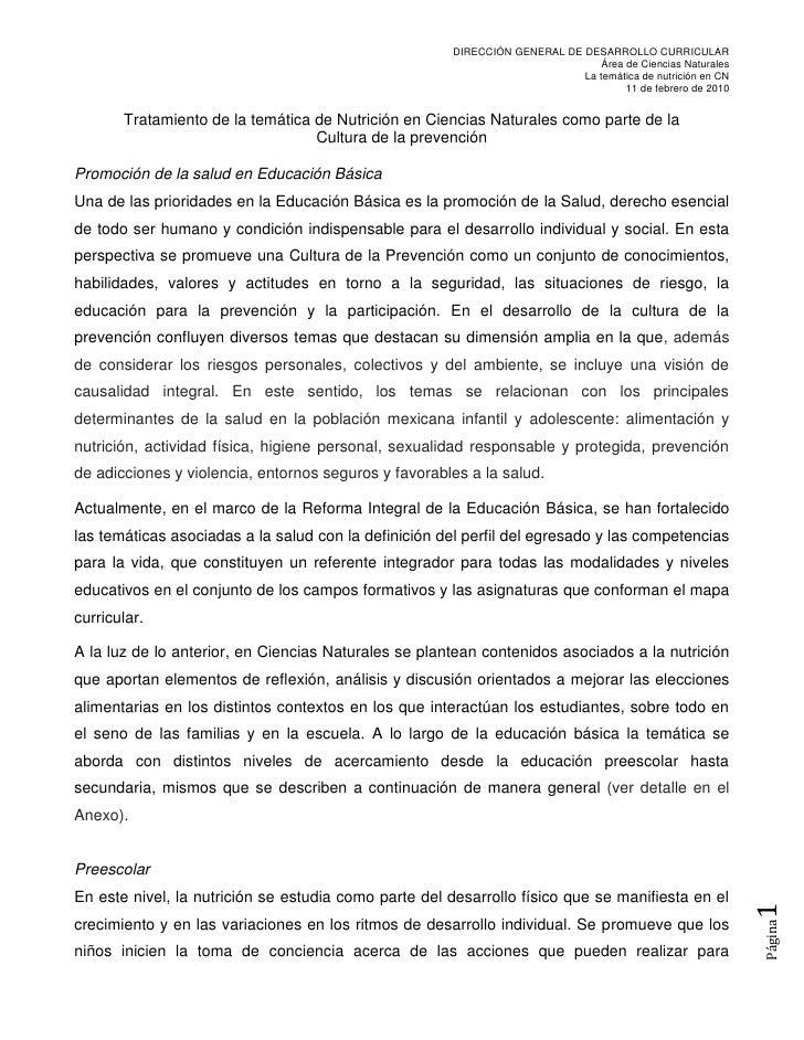 DIRECCIÓN GENERAL DE DESARROLLO CURRICULAR                                                                                ...