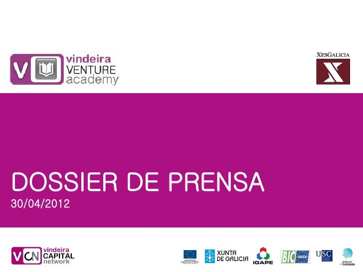 DOSSIER DE PRENSA30/04/2012