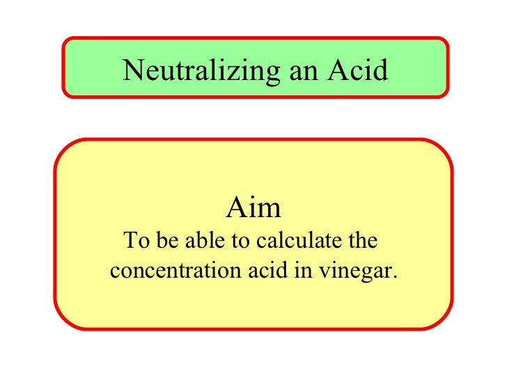 titration of acetic acid in vinegar How do i calculate acetic acid in vinegar sample from titration i titrated 25ml of diluted vinegar (10% how do i calculate % acetic acid in vinegar.