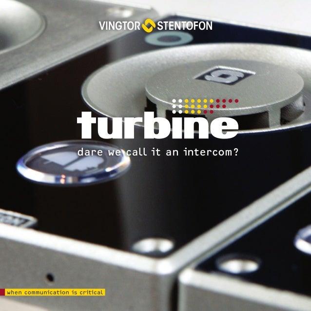 vingtor stentofon turbine ip intercom family rh slideshare net  stentofon turbine manual