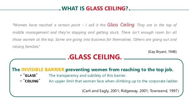 Glass ceiling syndrome and women s empowerment