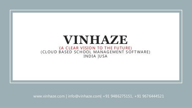 VinHaze- The Best Cloud Based School Management Software