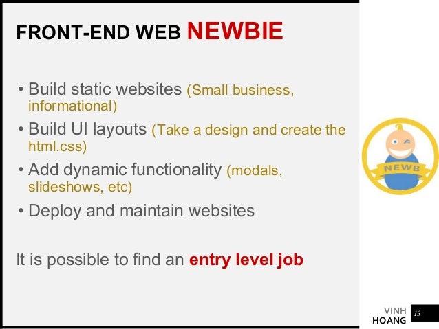 VINH HOANG HTML / CSS FRAMEWORK CHOOSE ONE • Boostrap • Materialize • Bulma 16