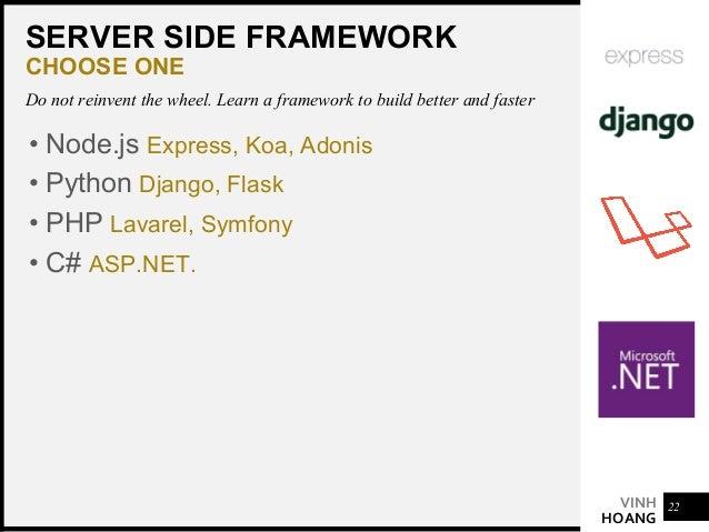 VINH HOANG FULL STACK SUPERMAN • Setup full stack dev environments & workflows • Build back-end APIs & microservices • Wor...