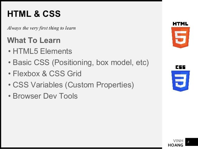VINH HOANG SASS Not mandatory but recommended. It is easy enough to learn the basics • Structured CSS • Variables • Nested...