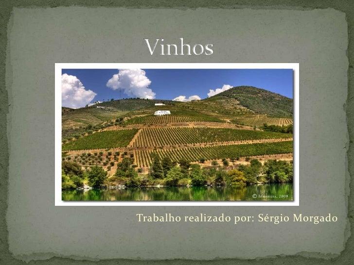 Vinhos<br />Trabalho realizado por: Sérgio Morgado<br />