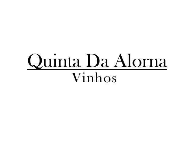 Quinta Da AlornaVinhos