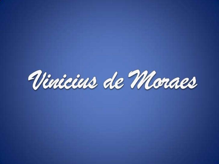 Vinicius de Moraes<br />