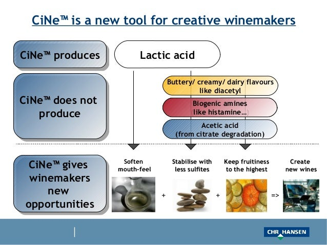 CiNe™ is a new tool for creative winemakersCiNe™ producesCiNe™ produces         Lactic acid                               ...