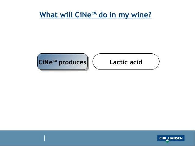 What will CiNe™ do in my wine?CiNe™ producesCiNe™ produces    Lactic acid