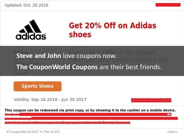 Steve and John love coupons now. The CouponWorld Coupons are their best friends. © CouponWorld 2017. In The US (FL) <Date>