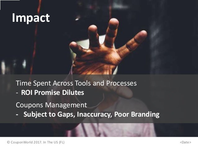 Impact Time Spent Across Tools and Processes - ROI Promise Dilutes Coupons Management - Subject to Gaps, Inaccuracy, Poor ...