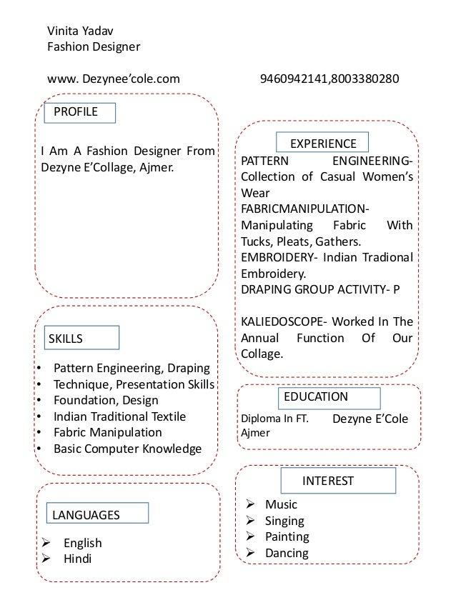 Vinita Yadav Fashion Design Student Nsqf Level 5