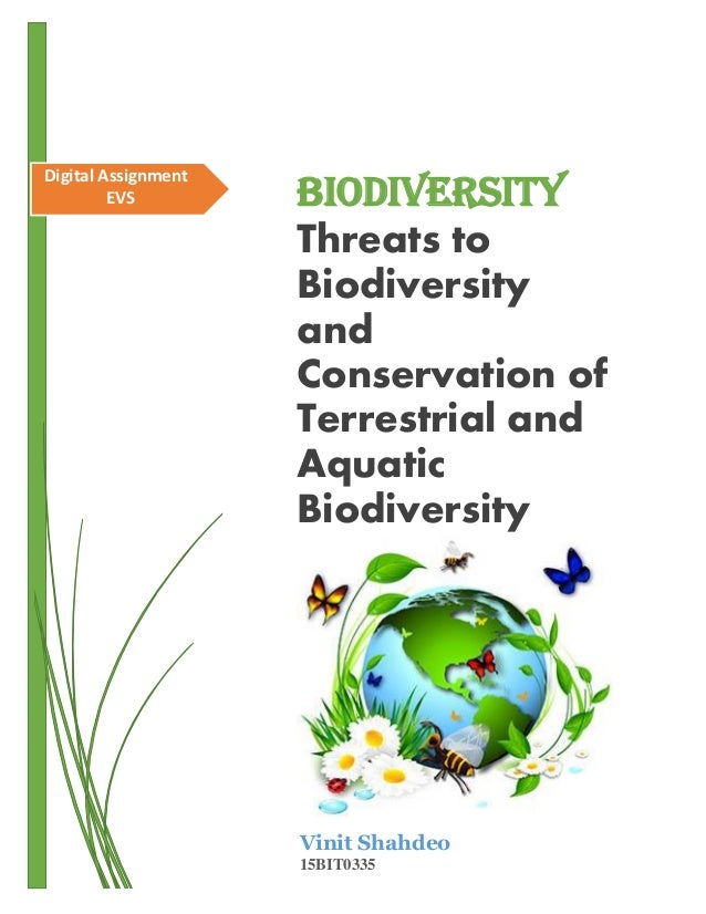 threats to biodiversity and conservation of