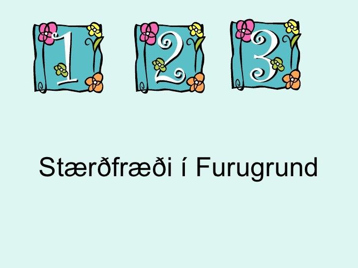 Stærðfræði í Furugrund