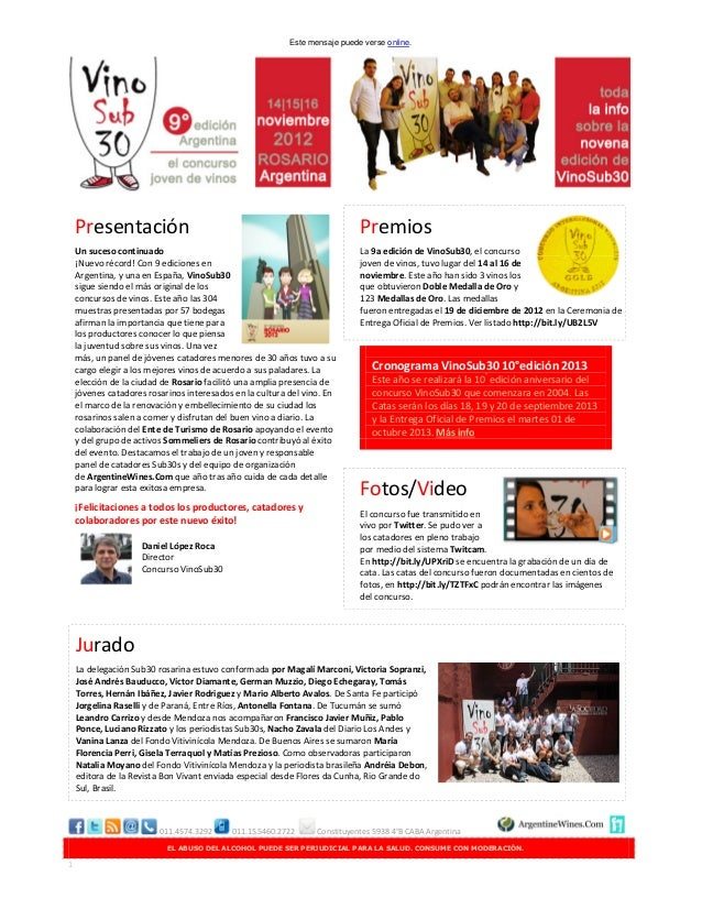 Este mensaje puede verse online.    Presentación                                                            Premios    Un ...