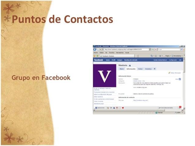 Puntos de Contactos Grupo en Facebook