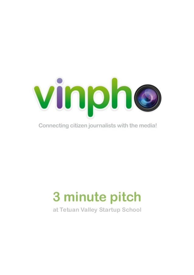 3 minute pitch at Tetuan Valley Startup School
