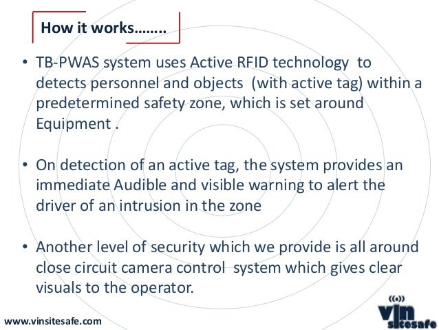 Tag Based Proximity Warning Alert System