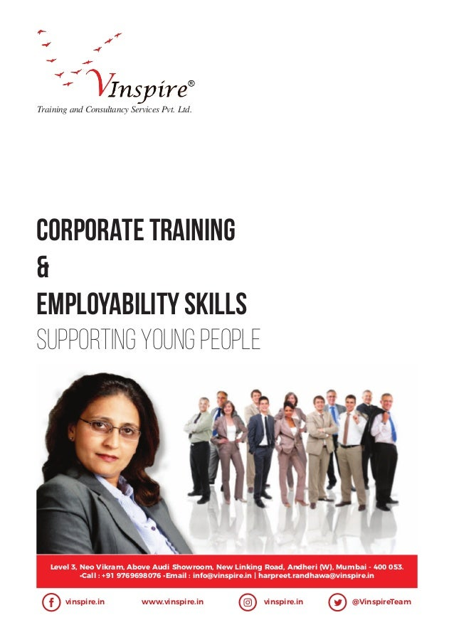 CORPORATE TRAINING & Employability Skills Supporting Young People Training and Consultancy Services Pvt. Ltd. Level 3, Neo...