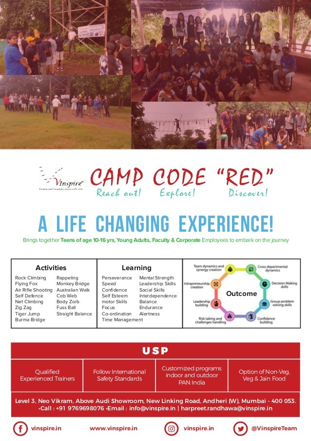 Brings together Teens of age 10-16 yrs, Young Adults, Faculty & Corporate Employees to embark on the journey A LIFE CHANGI...