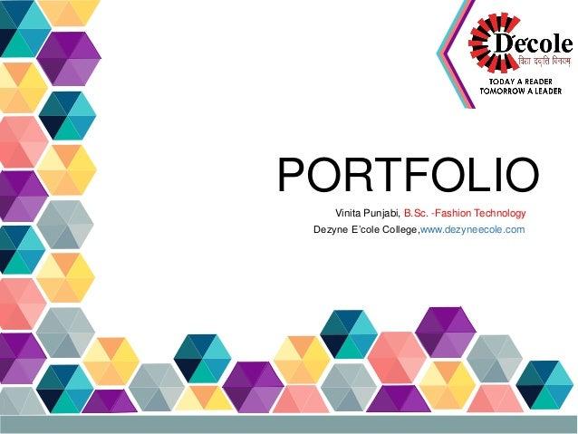 Fashion Technology Portfolio Vinita Punjabi B Sc Fashion Technology