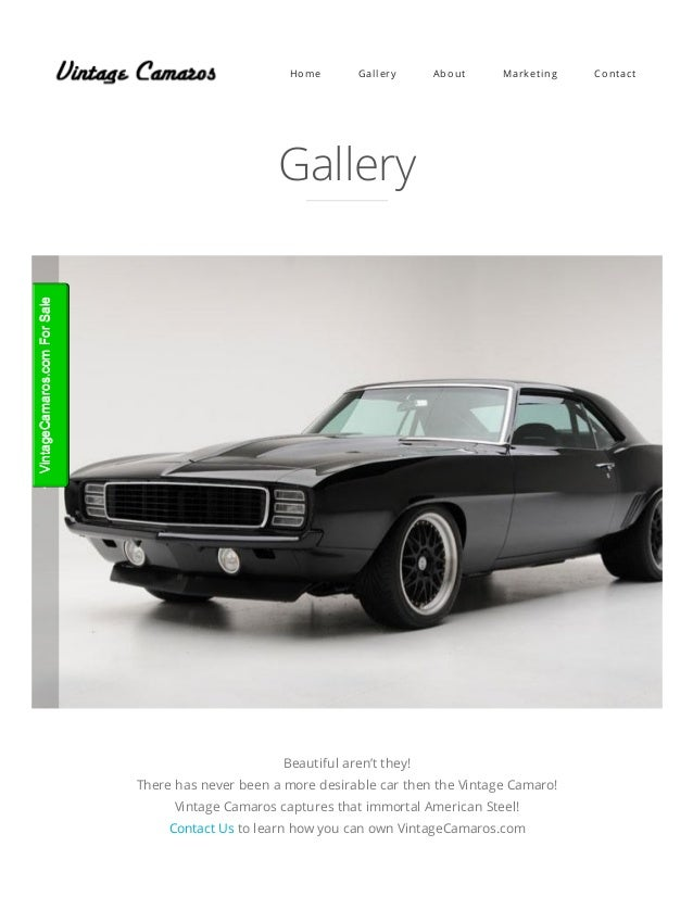 Vintage Camaros from the 60\'s, 70\'s & 80\'s – Chevy Camaro, the best v…